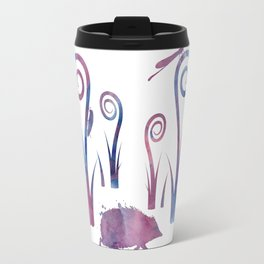 hedgehog and insects Travel Mug