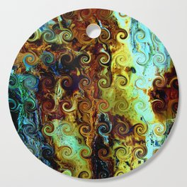 Colorful Wood Spirals Background #Abstract #Nature Cutting Board