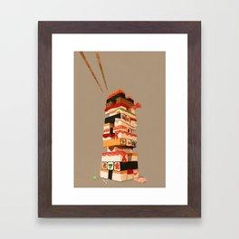 Sushi Jenga Framed Art Print