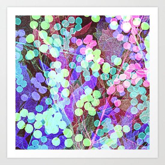 Dots & Leaves. Art Print