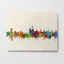 Iowa City Iowa Skyline Metal Print
