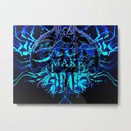 stun make Metal Print