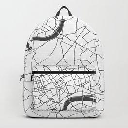 London White on Gray Street Map Backpack