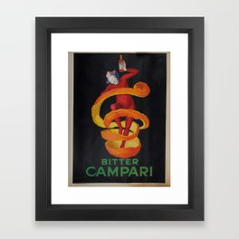 Vintage poster - Bitter Campari Framed Art Print