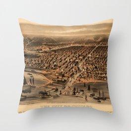 Chicago 1871 Throw Pillow
