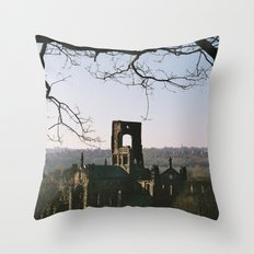 Kirkstall Abbey from the hill... Throw Pillow