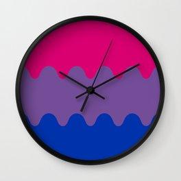 Wavy Bisexual Flag Wall Clock