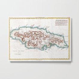 Vintage Map of Jamaica (1780) 2 Metal Print