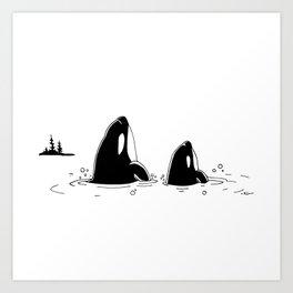 """ Spyhoppers "" Art Print"