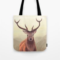 elk Tote Bags featuring ELK by Juliana Vidal