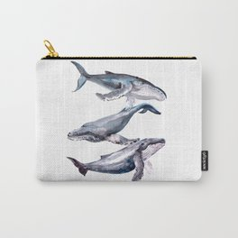 Humpback Whales, three whales illustration Carry-All Pouch