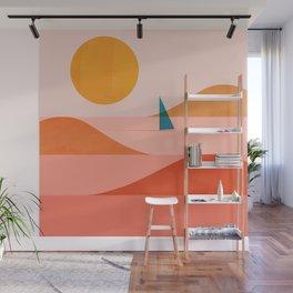 Abstraction_Sailing_Ocean_002 Wall Mural