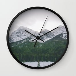 Sun Over The Trees Wall Clock