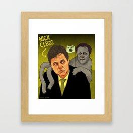 Nick Clegg (And Sloth-Cameron) Framed Art Print
