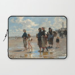Setting Out to Fish Oil Painting by John Singer Sargent Laptop Sleeve