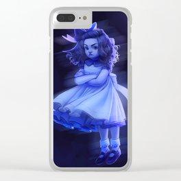 Ghost Girl (#Drawlloween2016 Series) Clear iPhone Case