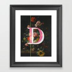Letter D Framed Art Print