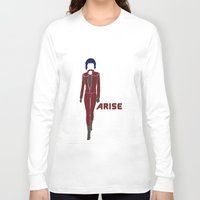 ghost in the shell Long Sleeve T-shirts featuring Ghost in the Shell Arise by Krbshadow