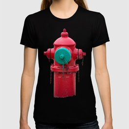 TCIW Red Fire Hydrant Traverse City Iron Works 70's model Red Fireplug T-shirt