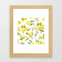 Watercolor lemons 8 Framed Art Print