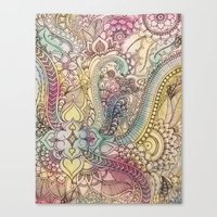 zentangle Canvas Prints featuring ZenTangle by abDesigns