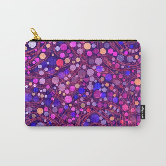 Bright polka dot(8) Carry-All Pouch
