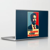 robert downey jr Laptop & iPad Skins featuring Robert Downey Jr - The Legend by Mental Activity