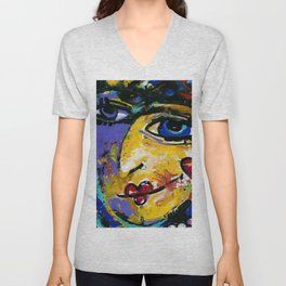 She Can Wish by Kathy Morton Stanion Unisex V-Neck