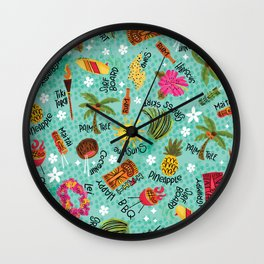 It's A Tiki Party! Wall Clock