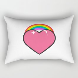Rainbow Heart Human Rights And Equality Rectangular Pillow