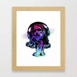 Jesus and the Headtones, in Bue Framed Art Print