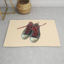 Converse Sneakers With Licorice Candy Shoelaces Rug