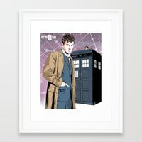 david tennant Framed Art Prints featuring Doctor Who - David Tennant by Averagejoeart