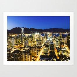 Twilight Evening Vancouver Art Print