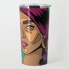 rupi kaur pop-art portrait Travel Mug