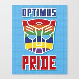 Optimus Pride Canvas Print