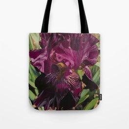 Bright Amethyst Iris Tote Bag