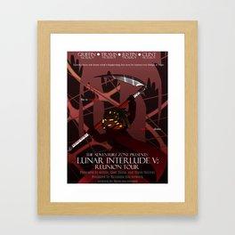 Lunar Interlude V Poster Framed Art Print