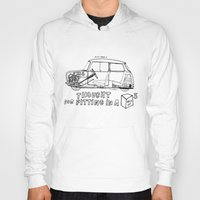 mini cooper Hoodies featuring Mini Cooper Classic (ADO15) by Swasky