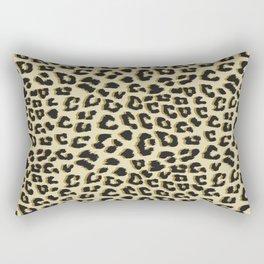 Leopard Print Brown Rectangular Pillow