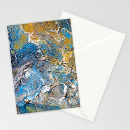 Mineralogy - Abstract Flow Acrylic Stationery Cards