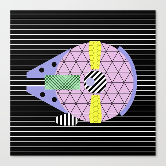 Millennium Falcon Geometric Style - Pastel, abstract design Canvas Print