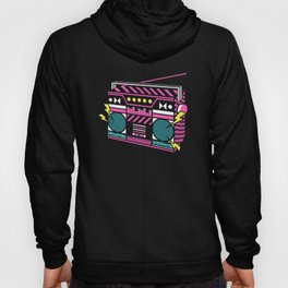 80s/Eighties Retro Music Boombox. Hoody