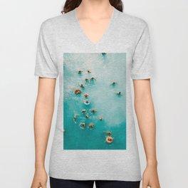 I Need Vitamin Sea | Aerial Ocean Print | Summer Turquoise Print | Waves Art Print | Turquoise Art Unisex V-Neck