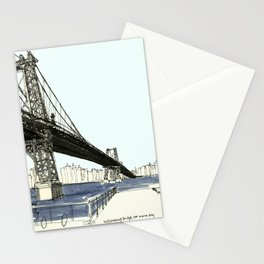 First Sunny Day, Williamsburg Bridge Stationery Cards