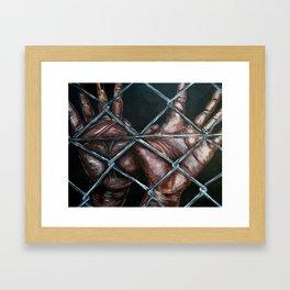 Chain Linked~2 hands Framed Art Print