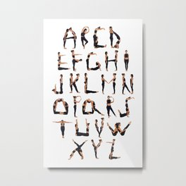 Yoga Alphabet Metal Print