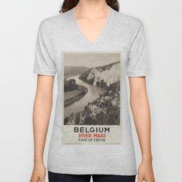 Vintage poster - Belgium Unisex V-Neck