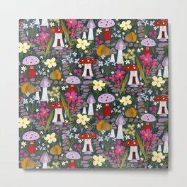 Fairy garden toadstools mushrooms  Metal Print