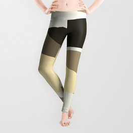 Beige Brown and Taupe Abstract Leggings